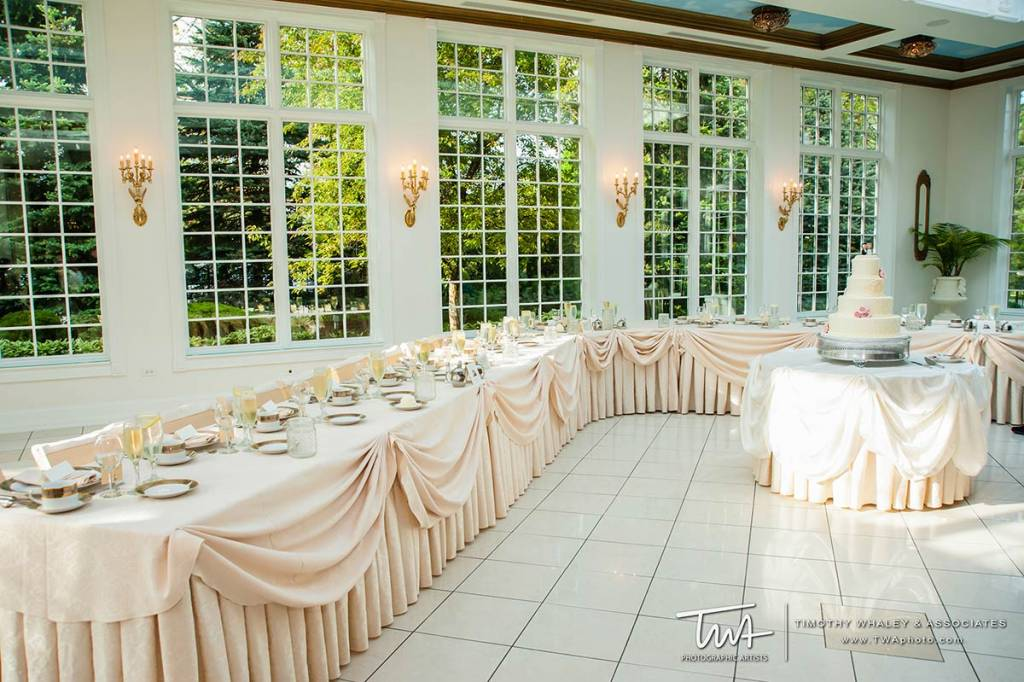 indoor wedding reception ballroom with outdoor views