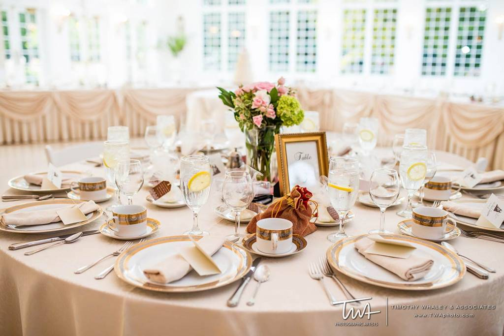 intimate indoor spring wedding reception banquet hall