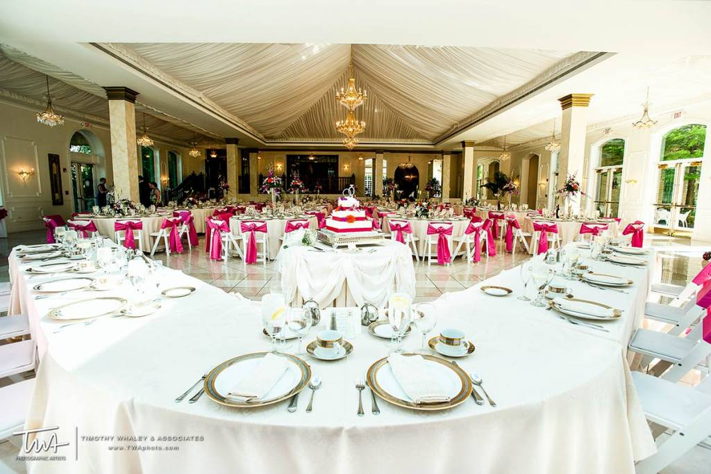 wedding and reception venues with elegant grecian design