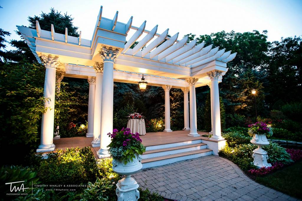 garden wedding venue with pergola
