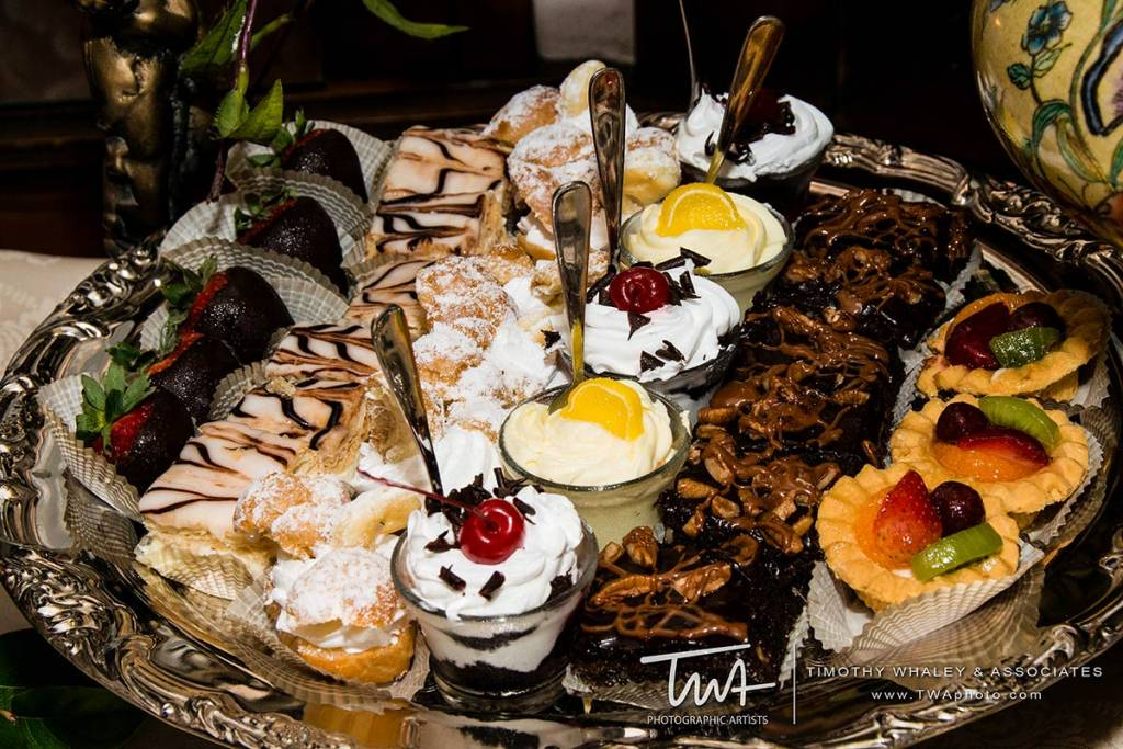 choose your own dessert menu for the wedding reception