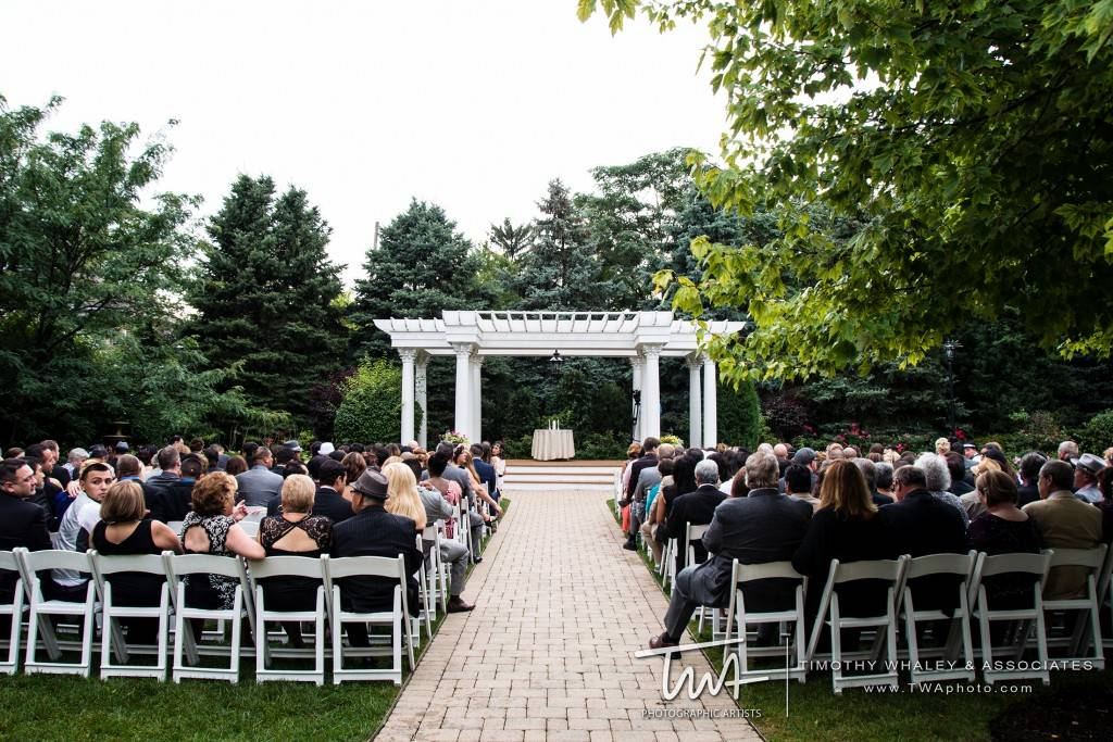 Elegant outdoor wedding ceremony space