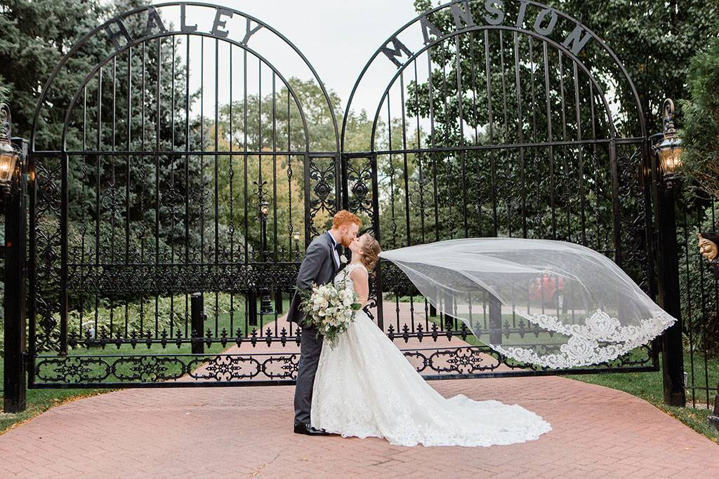 Iconic Gate at Joliet Wedding Venue